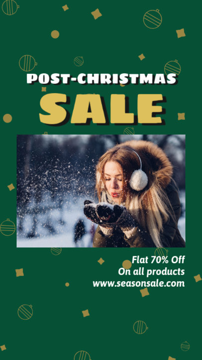 Instagram Story Template for an After X-Mas Clearance Sale Announcement 3284f