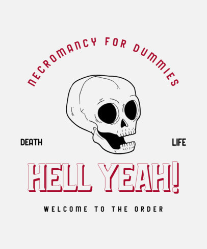 Retro-Styled T-Shirt Design Maker with a Skull Illustration 3289c