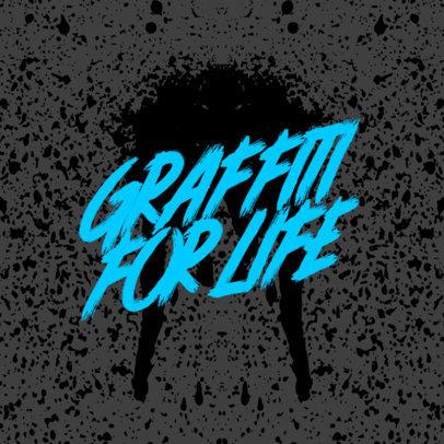 Logo Template with a Graffiti Font 3975b