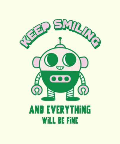 Quote T-Shirt Design Generator Featuring a Retro-Style Robot 3287f