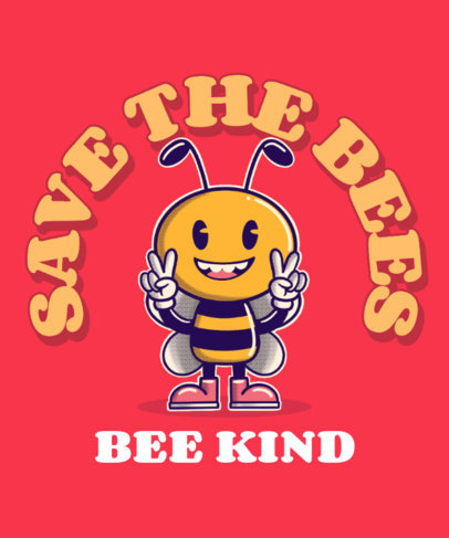 T-Shirt Design Generator with a Cartoonish Bee Graphic 3286f