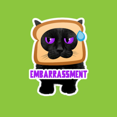 Twitch Emote Logo Maker Featuring Funny Cat Graphics 3983