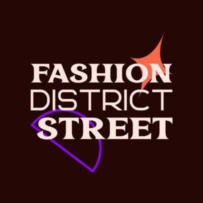 Fashion Logo Maker Featuring Modern Typographies and Geometric Shapes 3985d
