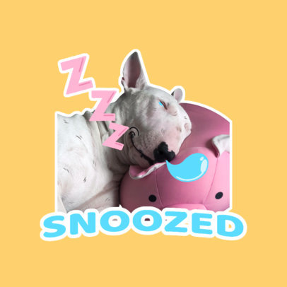 Twitch Emote Logo Template with a Graphic of a Sleepy Dog 3981b