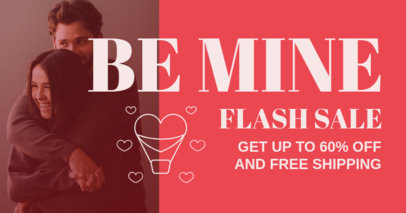 Facebook Post Design Template for a Valentine's Day Flash Sale 3302f