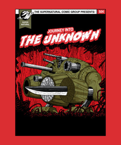 Illustrated T-Shirt Design Creator Featuring an Evil Robot 3380b-el1