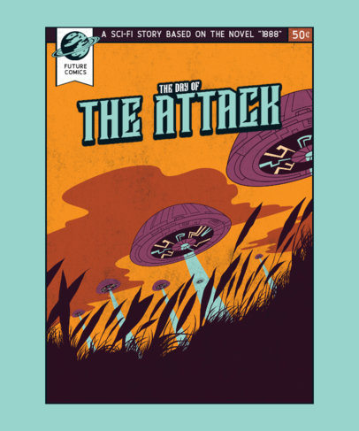 T-Shirt Design Maker Featuring an Illustration of an Alien Abduction 3380d-el1