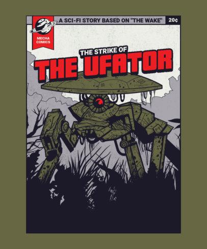 Illustrated T-Shirt Design Generator Featuring an Alien Robot 3380f-el1