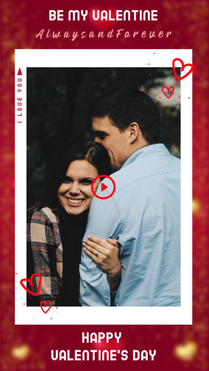 Instagram Story Creator for a Happy Valentine's Day Message 3297g