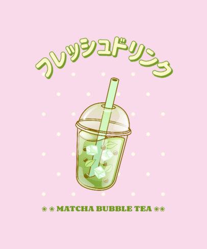 Foodie T-Shirt Design Maker with a Bubble Tea Clipart 3314e