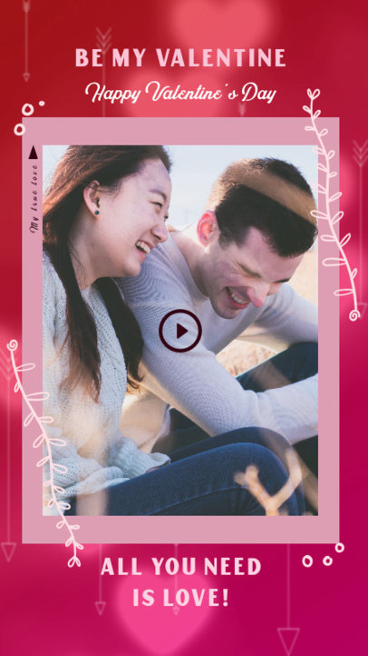 Instagram Story Creator Featuring a Valentine's Day Couple Picture 3297b