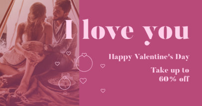 Valentine's Day Themed Facebook Post Design Template for a Special Offer Announcement 3302a