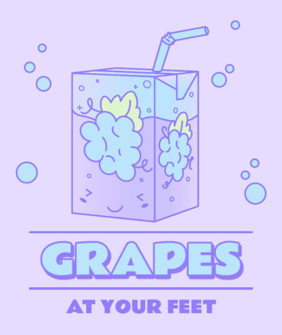 Kawaii Tote Bag Design Creator with a Grape Juice Box Illustration 3315b
