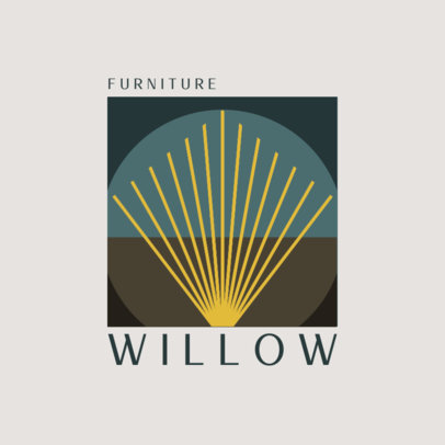 Elegant Logo Creator for a Furniture Company Featuring an Abstract Illustration 3986d