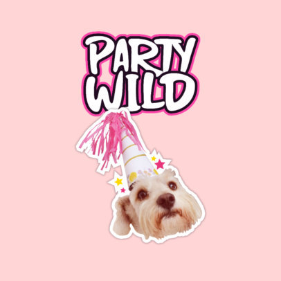 Twitch Emote Logo Maker Featuring a Party Dog Graphic 3980b