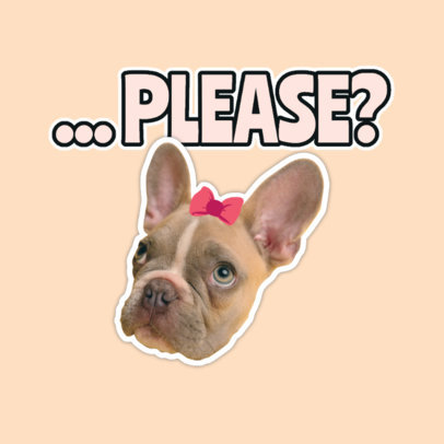 Twitch Emote Logo Maker Featuring a Cute Puppy Clipart 3980e