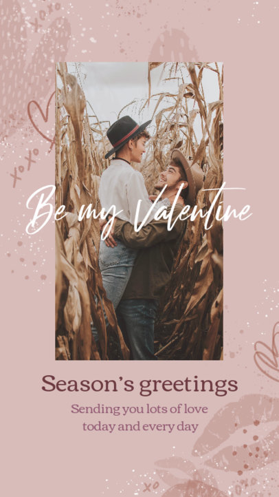 Instagram Story Maker Featuring a Valentine's Day Message 3298b