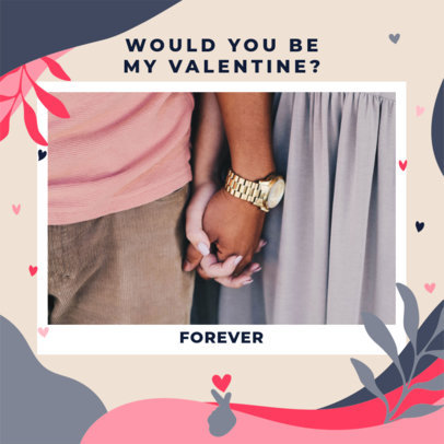 Instagram Post Generator with a Picture of a Couple Holding Hands 3299e