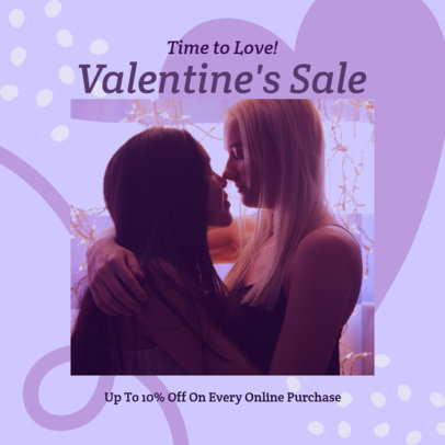 Valentine's Day-Themed Instagram Post Maker for an Online Sale 3300c