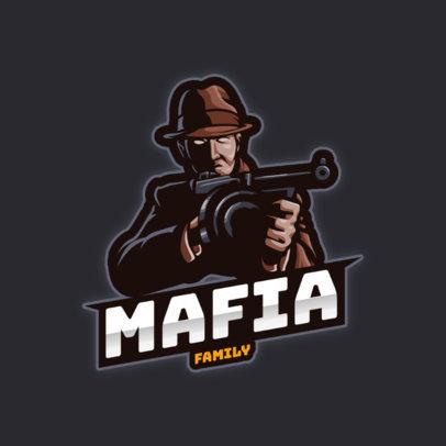 Mafia-Themed Logo Generator for a Gaming Squad 3456b-el1