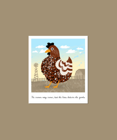 Illustrated T-Shirt Design Creator with a Chicken Graphic 3414b