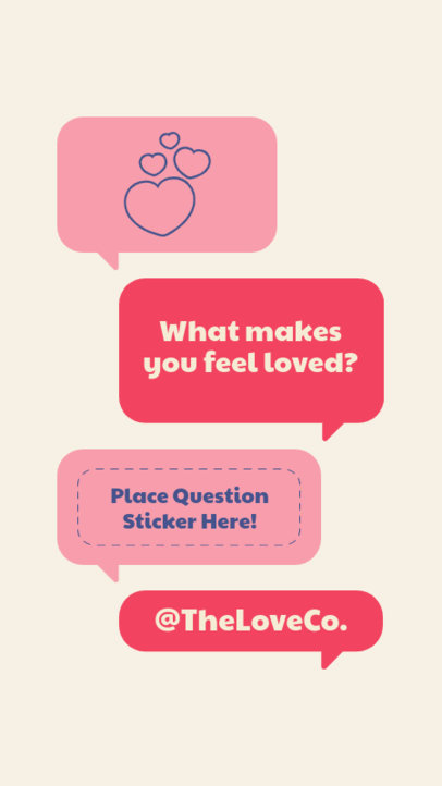 Q&A Instagram Story Design Template With a Valentine's Day Theme 3458-el1