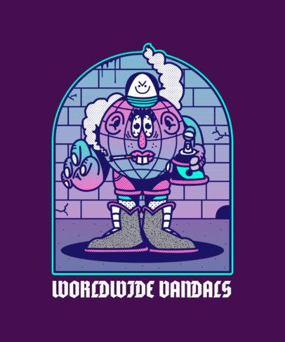 Cartoonish T-Shirt Design Maker with a Smoking Character 4005a