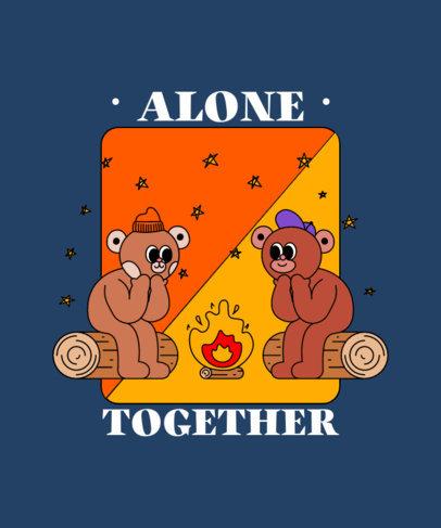 Illustrated T-Shirt Design Maker Featuring Cartoonish Bears 3412d