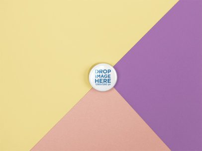 Small Button Template Lying on a Surface with Three Colors a15138