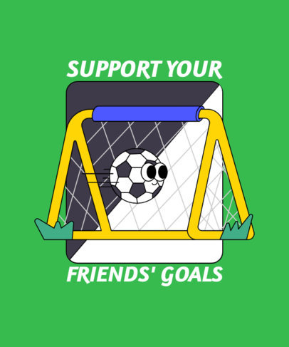 Illustrated T-Shirt Design Maker with a Supportive Friendship Quote 3412g
