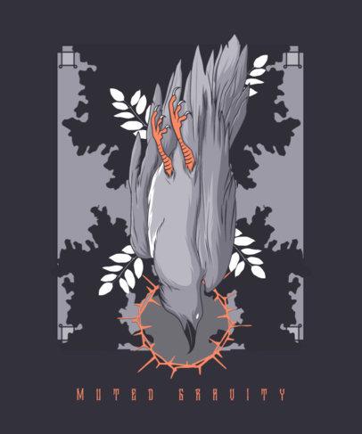 Illustrated T-Shirt Design Creator Featuring an Esoteric Ritual 4007B