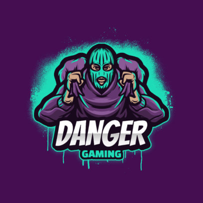 Gaming Logo Maker with a Graphic of a Dangerous Thief 3424d-el1
