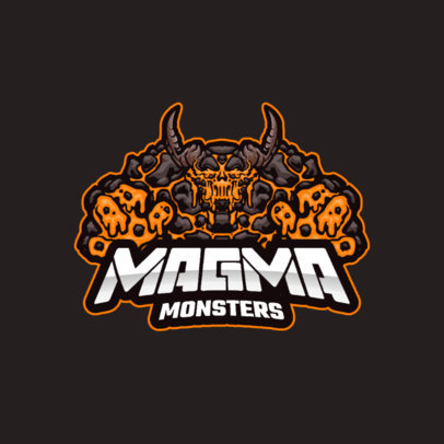Team Logo Creator with a Graphic of a Magma Golem 3420b-el1