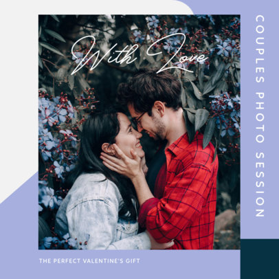 Romantic Instagram Post Template for Valentine's Day Photoshoot Packages 3430e-el1
