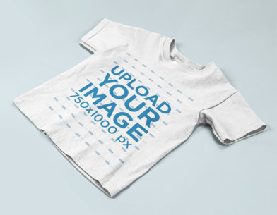 Mockup of a Kid's T-Shirt on a Flat Background a15260