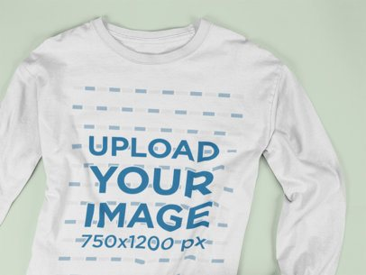 Long Sleeve T-Shirt Mockup on a Flat Surface a15250