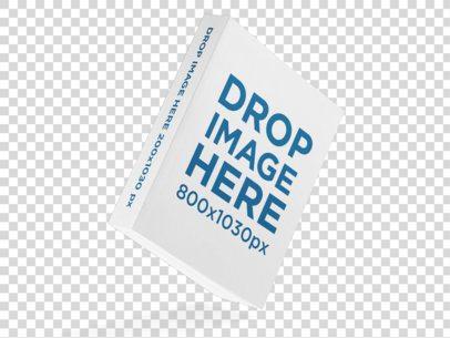 Angled Floating Big Paperback Book Mockup Over a Transparent Surface a15675