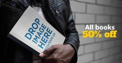 Facebook Ad - Book Being Held by Black Man a25