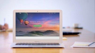 MacBook Air On A Wooden Desk