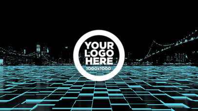 Logo Reveal Animation with 3D Wires a202