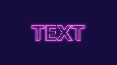 Text Animation Maker with Glowing Text a230