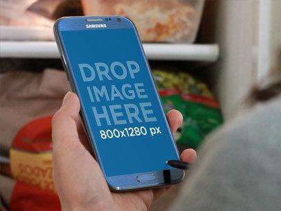 Blue Samsung Galaxy Note Freezer