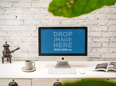Mockup Featuring an iMac at a Creative Office a4867