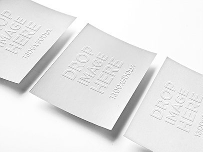 Embossed business card t shirt mockup generator 5182 templates mockup of 3 business cards lying over a smooth background reheart Images