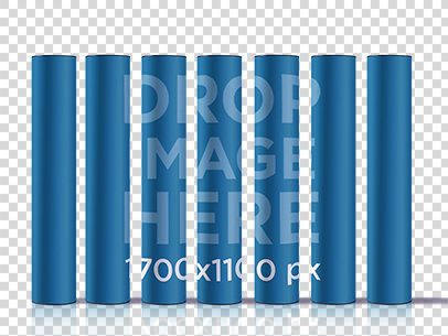 Poster Mockup Featuring a Set of Poster Tubes a6248