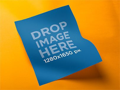 Flyer Mockup With a Colored Backdrop a6213