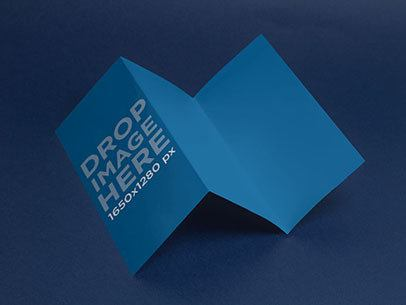 Mockup Featuring a Tri-Fold Brochure Over a Smooth Background a6355