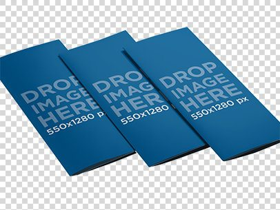 Mockup Featuring a Set of 3 Brochures Lying Over a Smooth Background a6358