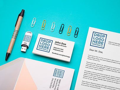 Branding Mockup Featuring an Assortment of Stationery Items a6525