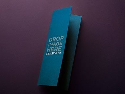 Mockup of a Folded Cardboard Brochure Over a Flat Backdrop a6236